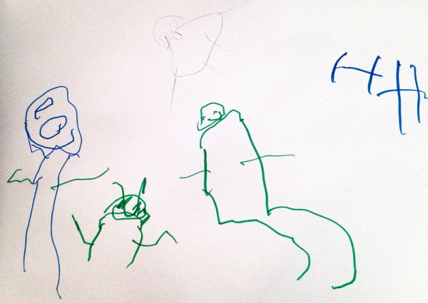 Drawing by a toddler.