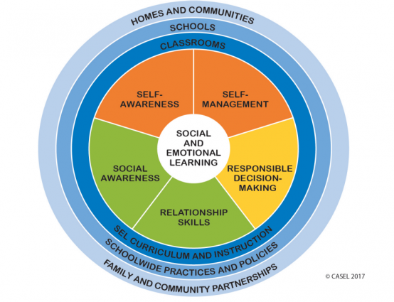 Infographic of social emotional learning competencies