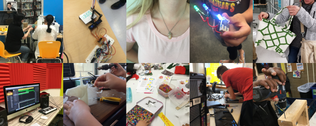 photos of craft and electronics projects