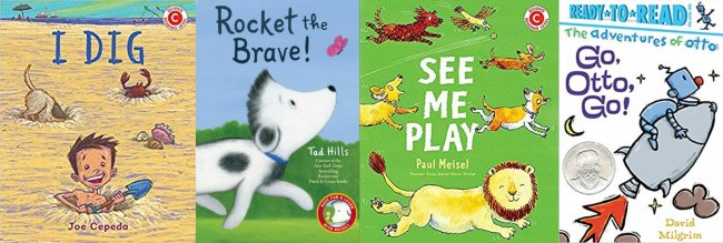 I Dig; Rocket the Brave;  See Me Play!; Go, Otto, Go!