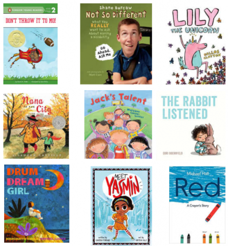 Image of book covers that support social and emotional learning.