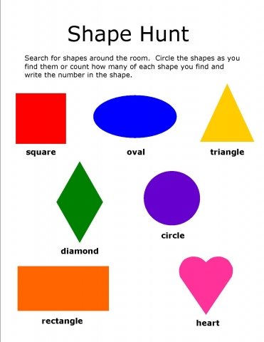 Shape hunt template