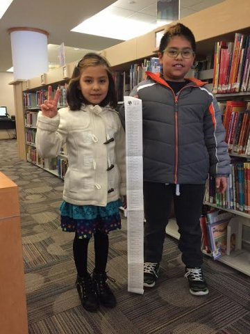 Children having fun at the library