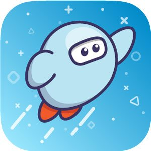 Sora logo of cartoon astronaut in space
