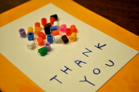 Thank you card from child